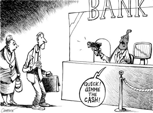 Bankcartoon