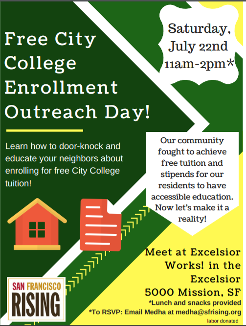 Free City College Enrollment Outreach Day! @ Excelsior United! | San Francisco | California | United States