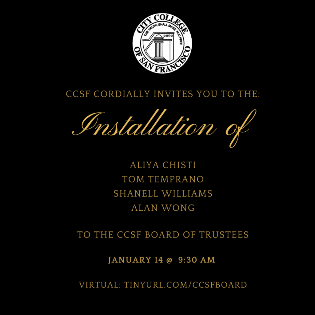 Installation of CCSF Trustees @ Online