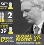 Update on Julian Assange event for Sat. + July 3rd demo in SF on Julian's 50th birthday (from Adrienne Fong)