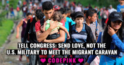 Codepink's message of love . . .